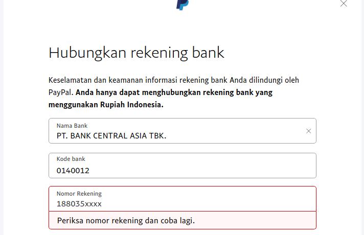 Tarik Dana Paypal Ke Bca Bagi Orang Dengan Satu Nama Catatan Ngasturi