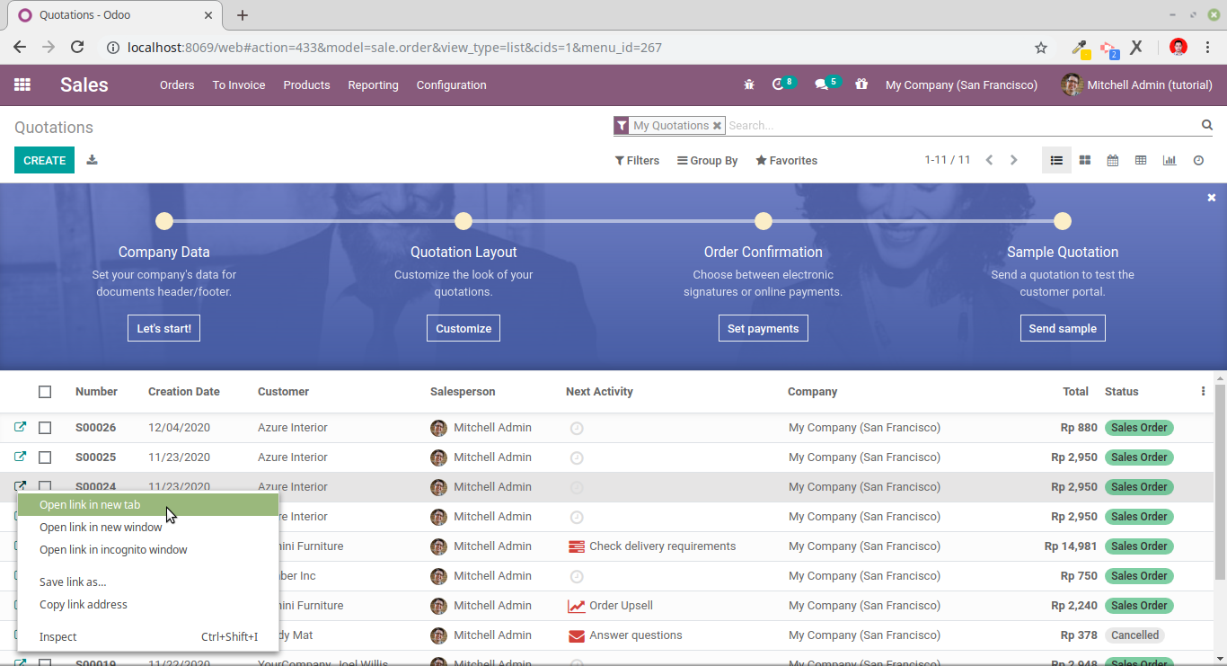 Open odoo list view in new browser tab